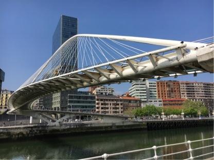 Puente Zubizuri designed by Santiago Calatrava